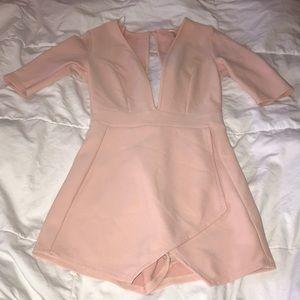 Blush pink romper | The boutique